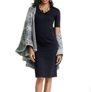 Cabi #3101 Claire Sheath Ponte Knit Midi Dress 776